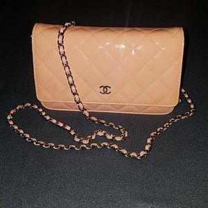 Chanel Wallet on a Chain WOC- Patent Leather Pink